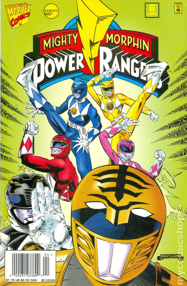Morphin power book comic mighty rangers