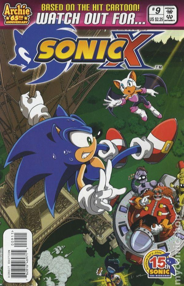 Sonic X 2005 Comic Books