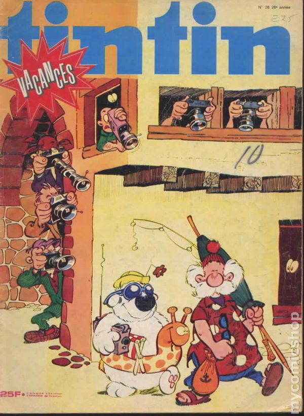 Tintin Comics French Tintin Magazine (Frenc...