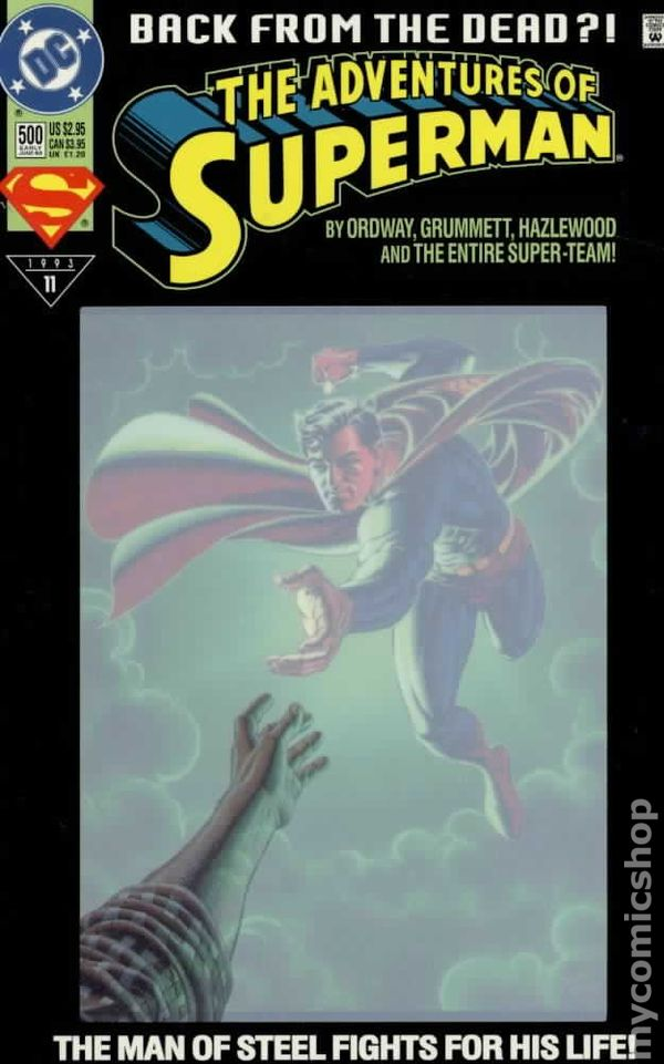 Image result for adventures of Superman #500 polybaged
