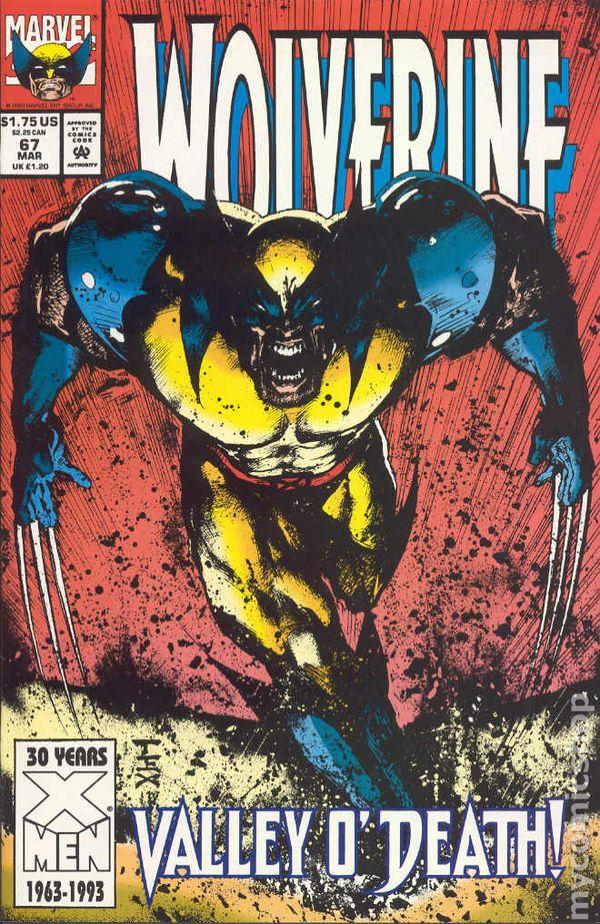 Mark Texiera art WOLVERINE #61 NM Direct cover Marvel Comics 1992
