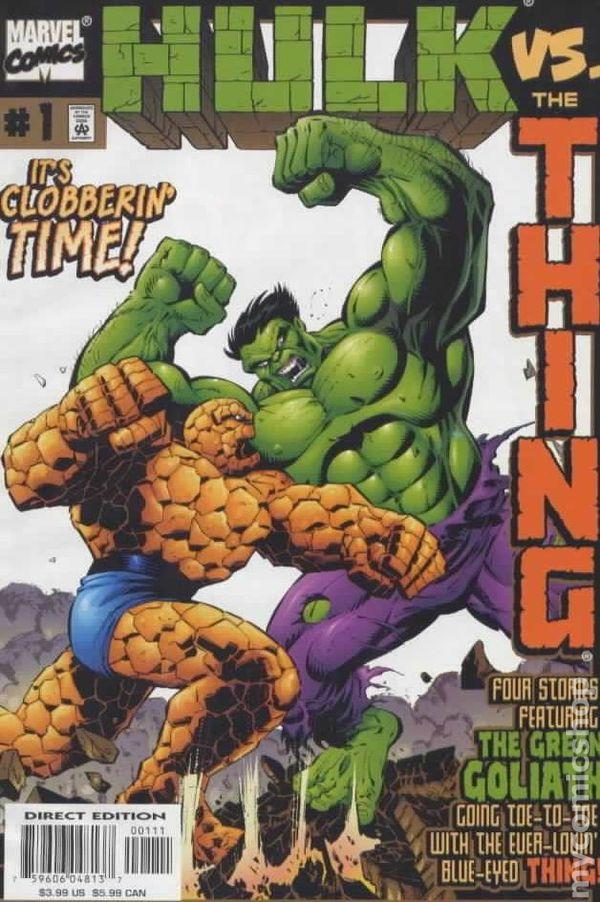 hulk vs thing 1999 comic books