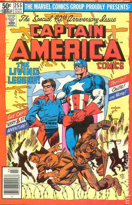 1st Series Captain America #295 1984 FN Stock Image