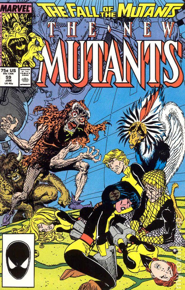 New Mutants 1983 series # 68 very fine comic book
