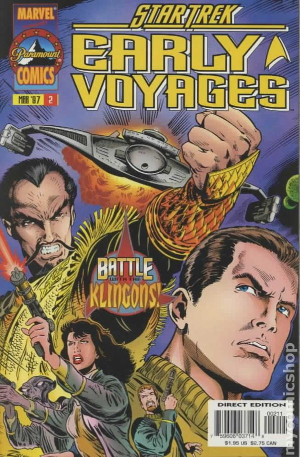 Star Trek Early Voyages 1997 series # 4 near mint comic book