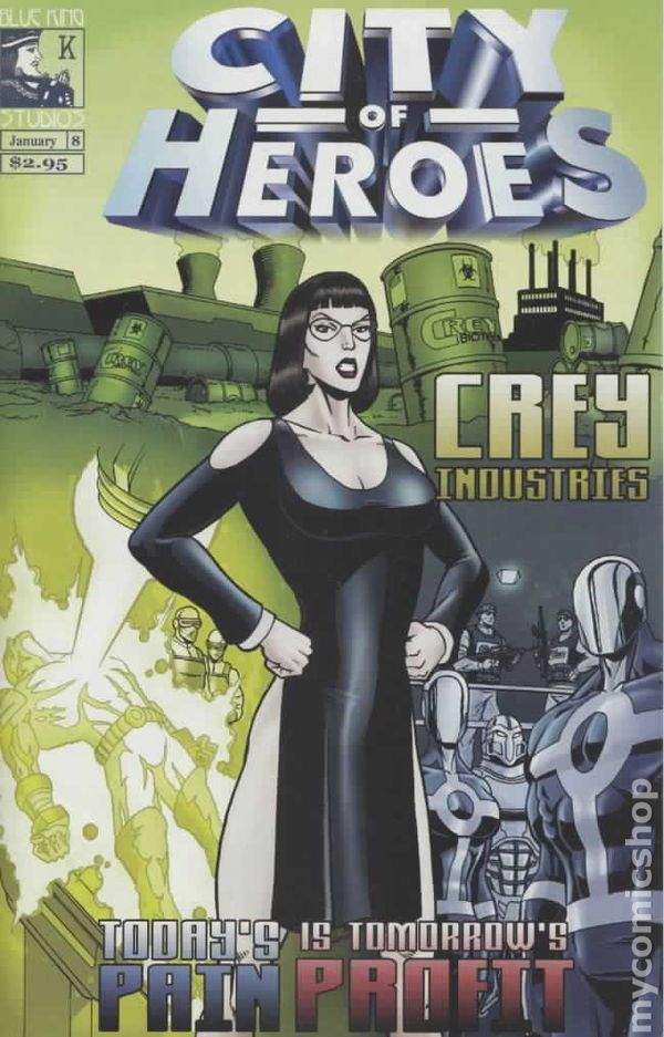 City Of Heroes 2004 Blue King Comic Books