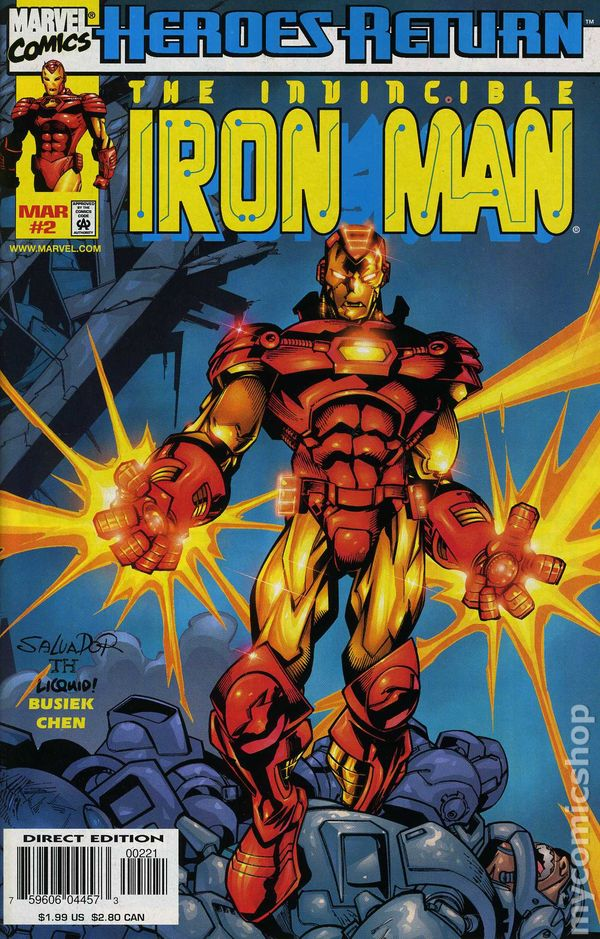 iron man  1998 3rd series  comic books 1990