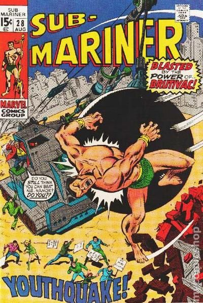 Sub Mariner 1968 1st Series Comic Books