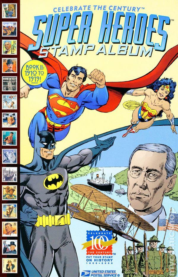 #4 Super Heroes Stamp Album 1998, DC // United States... Celebrate the Century
