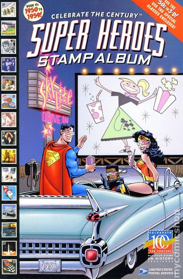 Super Heroes Stamp Album Celebrate the Century (1998) comic