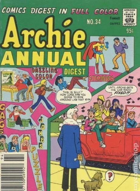 Archie Annual Digest 1975 Comic Books 1970 1979