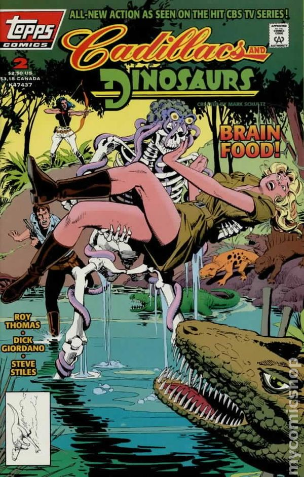 Cadillacs And Dinosaurs 1994 Topps Comic Books In a world where dinosaurs and men live together, poachers are hunting the slaughtering innocent dinosaurs, stop this madness in cadillacs and dinosaurs. cadillacs and dinosaurs 1994 topps