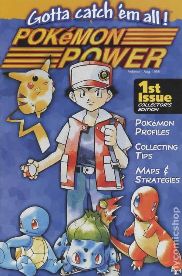 Pokemon Power 1998 Magazine Comic Books