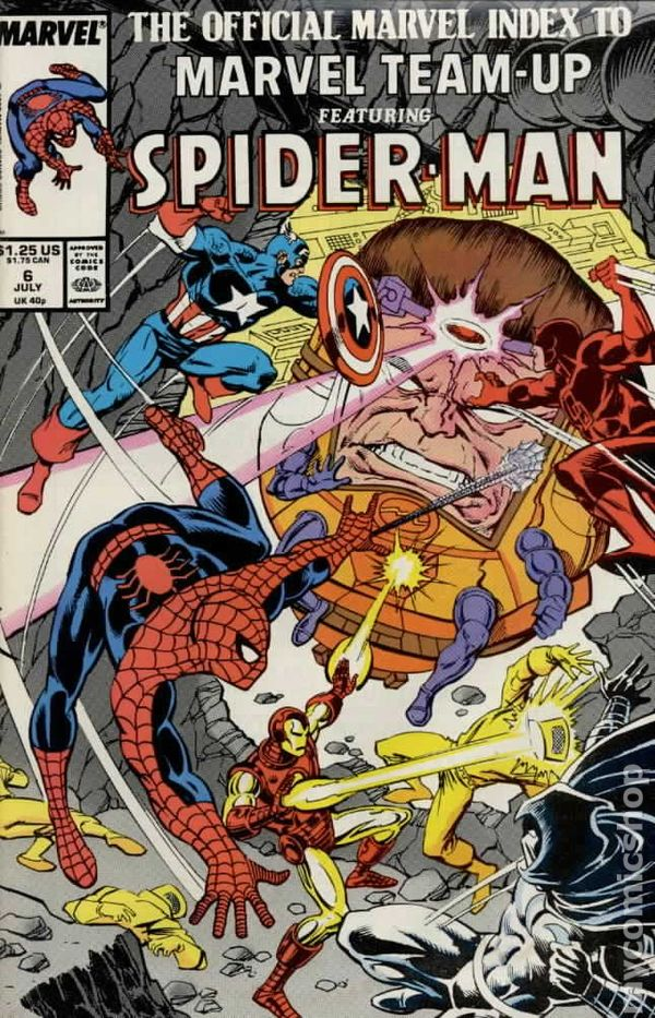 Marvel Team-Up Comic Book Annual #6 Spider-Man /& the New Mutants 1983 FINE+