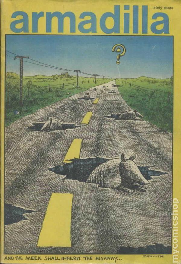 Comic books in 'Armadillo'