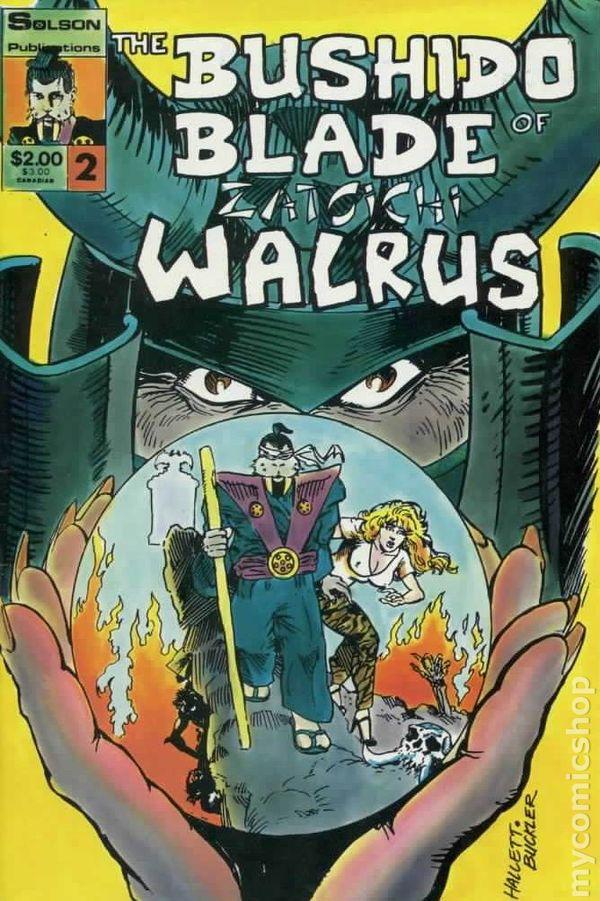 Bushido Blade Of Zatoichi Walrus 1986 Comic Books