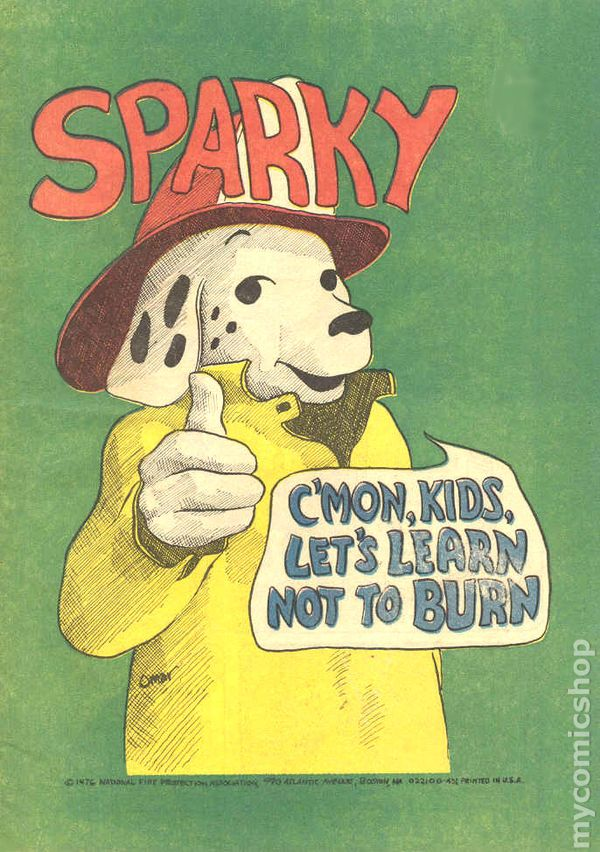 Sparky 1961 National Fire Protection Association 1976