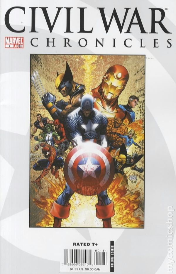 Civil War Chronicles 2007 Comic Books