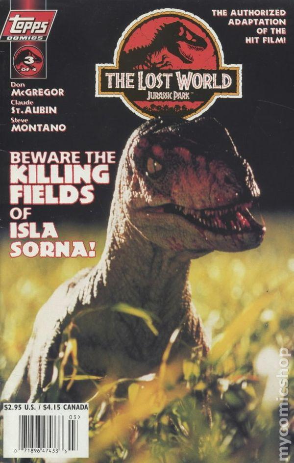 Lost World Jurassic Park 1997 Topps Comic Books