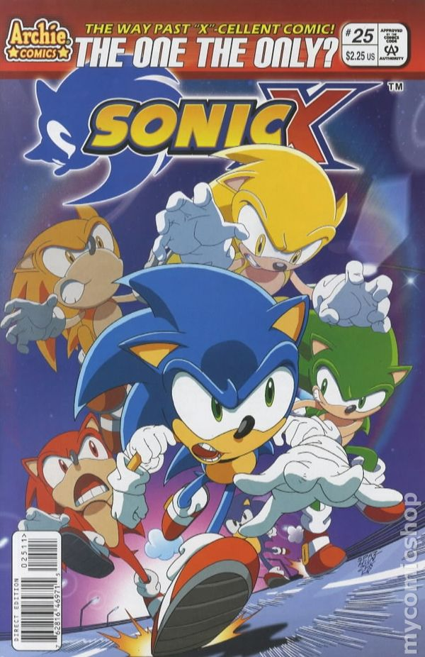 Sonic X (2005) comic books Руж И Соник