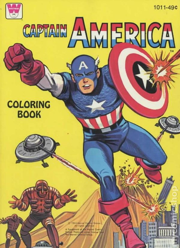 Captain America Coloring Book SC 1966 Whitman Comic Books