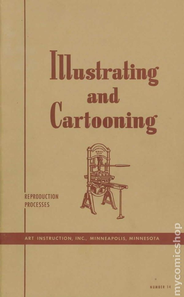 Illustrating And Cartooning Instruction Course Comic Books 1954