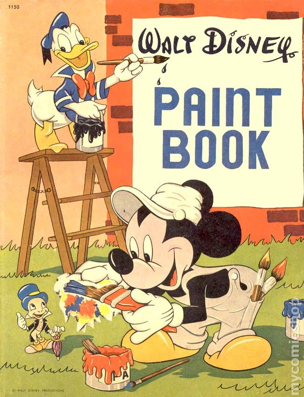 Disney Comic Books Walt Disney Paint Book 1949