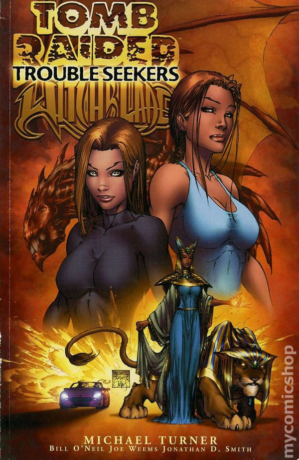 Tomb Raider Witchblade Trouble Seekers Tpb 2002 Image Comic Books