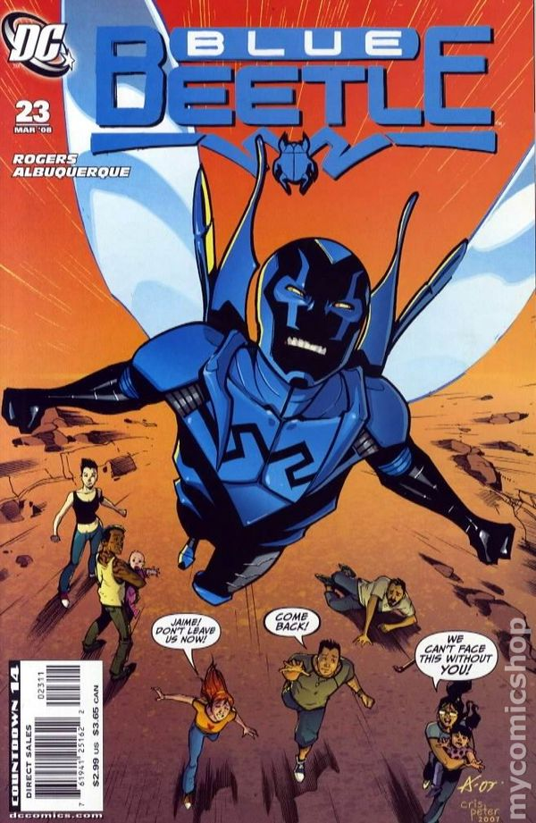 Blue beetle vs scarlet scarab