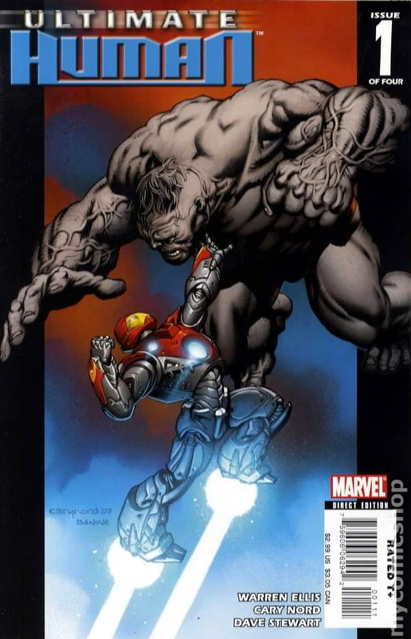 ULTIMATE HUMAN #1 {2008} MARVEL. ULTIMATE HULK vs. ULTIMATE IRON MAN