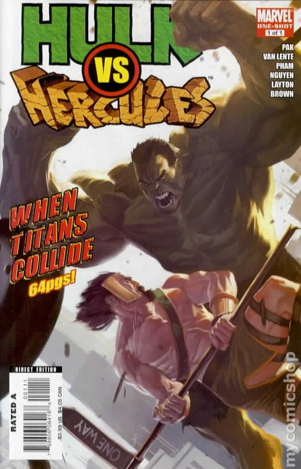 hulk vs hercules when titans collide 2008 marvel comic