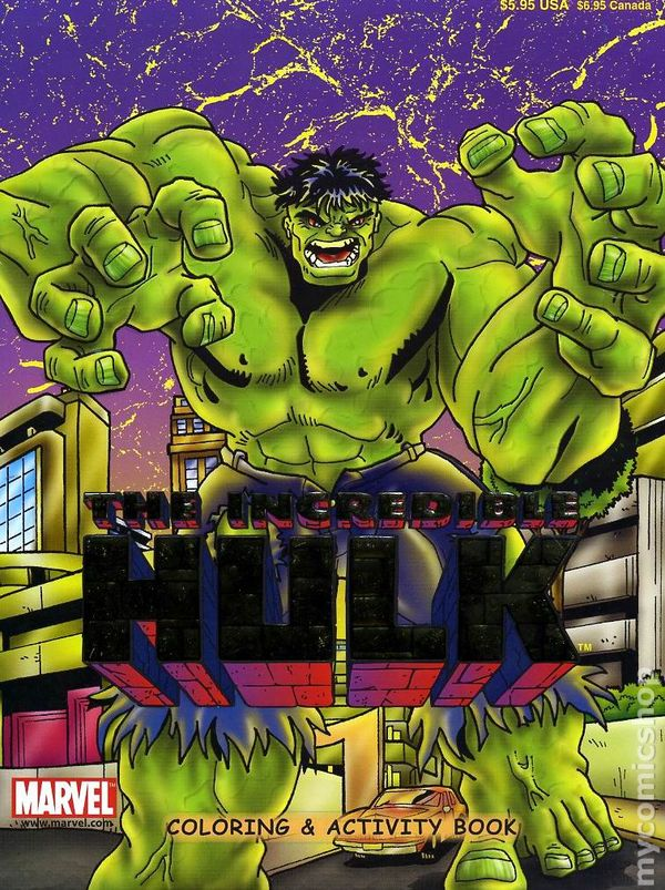 Incredible Hulk Color And Activity Book SC 2002 1 1ST