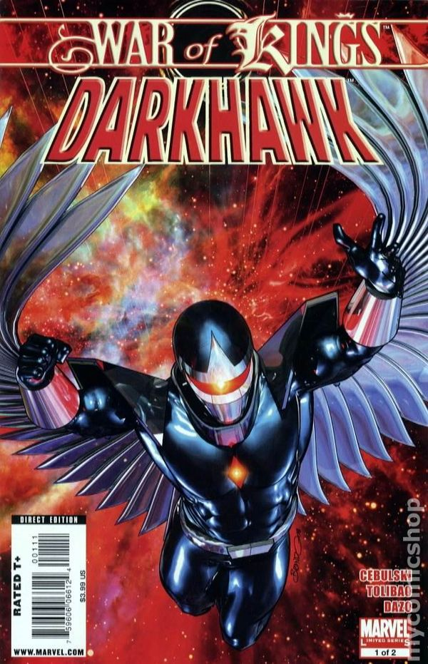 a91a29ded9173 War of Kings Darkhawk (2009) comic books