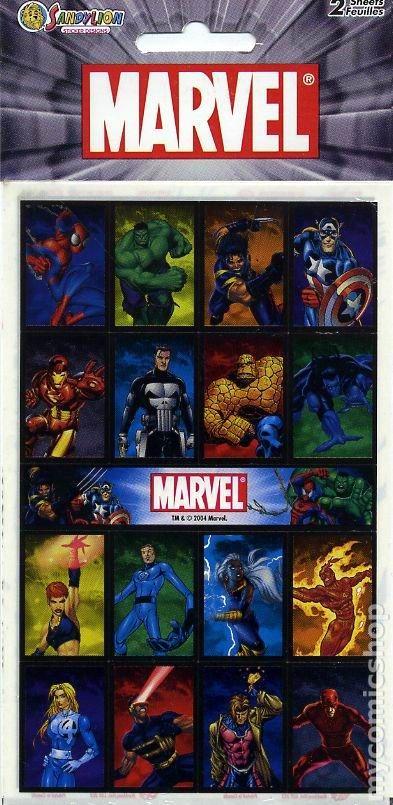 Marvel Stickers (2004 Sandylion Sticker Designs) comic books