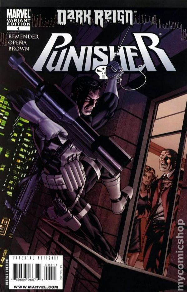 The Punisher #3 Mike McKone Dark Reign Variant Marvel Comics Rick Remender