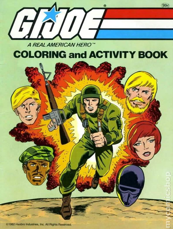 - GI Joe Coloring And Activity Book SC (1982) Comic Books