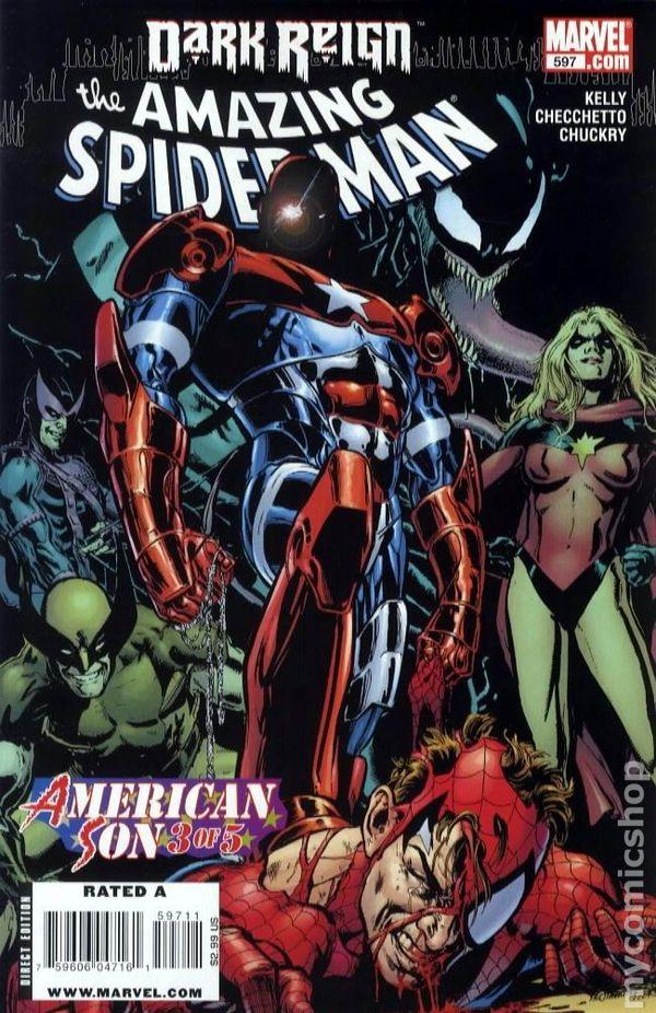 Amazing Spider-Man #595A JIMENEZ Variant FN 2009 Stock Image