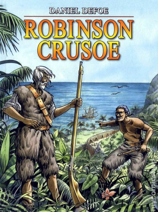 Image result for ROBinson Crusoe book covers 1970s