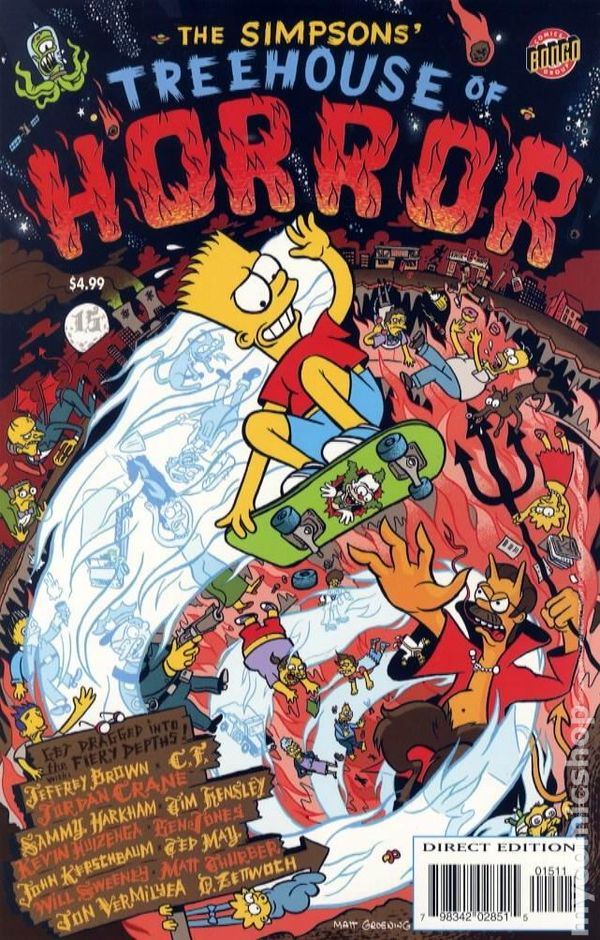 treehouse of horror  1995  comic books