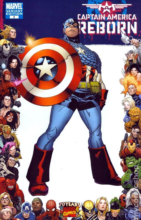 Captain America Reborn #1 Joe Quesada Variant Marvel