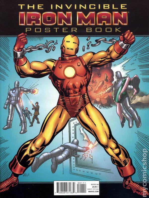 iron man poster book 2008 comic books