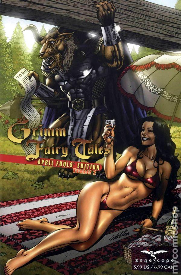 Grimm Fairy Tales 1A cover ~ Zenescope comic April Fools/' Edition #1