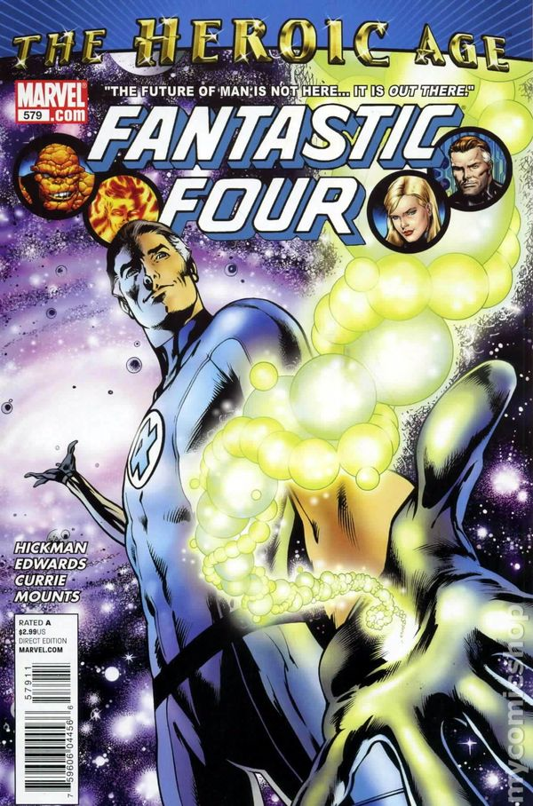 #586C 2011 Epting Variant 3rd Printing FN Fantastic Four 3rd Series