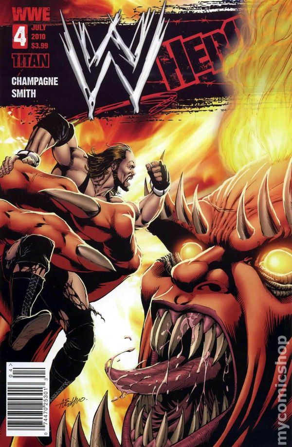 Wwe Heroes 2010 Titan Comics 4a Comic Book