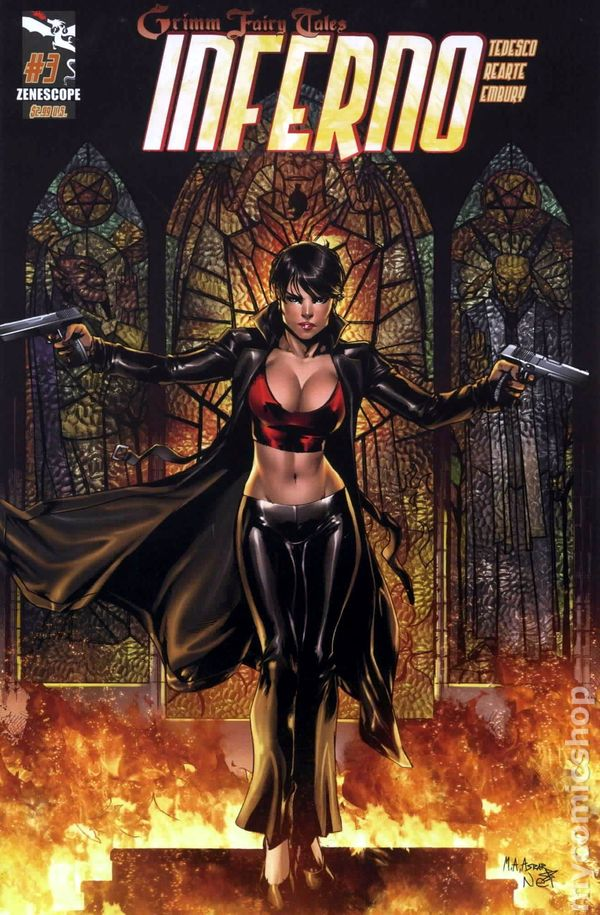 ~ Zenescope 1A cover Rings of Hell #1 Grimm Fairy Tales Presents Inferno