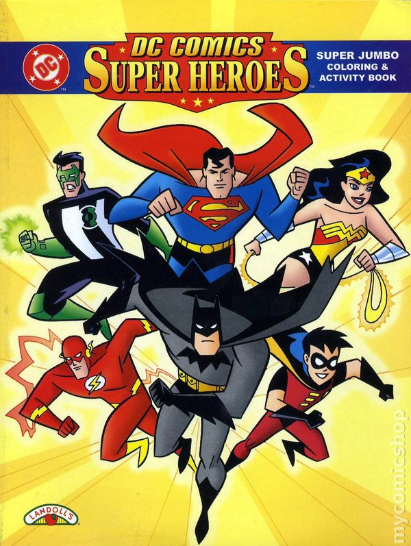 dc comics super heroes coloring book sc 1998 1 1st - Super Heroes Coloring Book