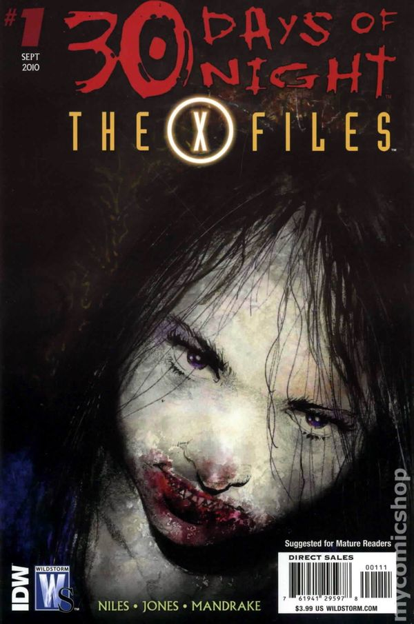 X-Files 30 Days of Night (2010 DC/IDW) comic books